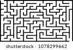 labyrinth of medium complexity. ... | Shutterstock .eps vector #1078299662