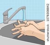 washing medical instructions... | Shutterstock .eps vector #1078308842