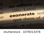 Small photo of exonerate word in a dictionary. exonerate concept