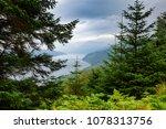 moody sky over loch long at... | Shutterstock . vector #1078313756