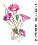 flowers bells  bindweed  ivy... | Shutterstock . vector #1078313795