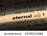 eternal word in a dictionary.... | Shutterstock . vector #1078314386