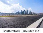 empty asphalt road with... | Shutterstock . vector #1078324115