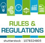 rules and regulations concept... | Shutterstock . vector #1078324805