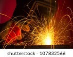 welding with sparks | Shutterstock . vector #107832566