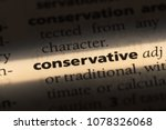 conservative word in a... | Shutterstock . vector #1078326068