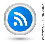 rss icon isolated on prime cyan ...   Shutterstock . vector #1078329836