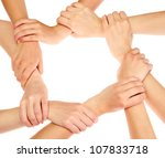 group of young people's hands... | Shutterstock . vector #107833718