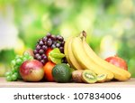 Assortment Of Exotic Fruits On...