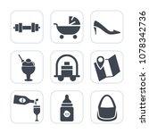 premium fill icons set on white ...   Shutterstock .eps vector #1078342736