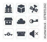 premium fill icons set on white ... | Shutterstock .eps vector #1078351262