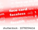 faceless word in a dictionary.... | Shutterstock . vector #1078354616