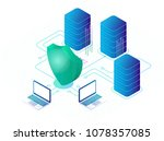 digital data secure and data... | Shutterstock .eps vector #1078357085