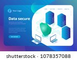 digital data secure and data... | Shutterstock .eps vector #1078357088