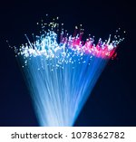 fiber optics lights abstract... | Shutterstock . vector #1078362782