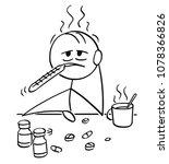 cartoon stick man drawing...   Shutterstock .eps vector #1078366826