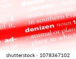 Small photo of denizen word in a dictionary. denizen concept
