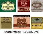 set of vintage labels | Shutterstock .eps vector #107837396