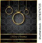 2019 merry christmas background ... | Shutterstock .eps vector #1078374725