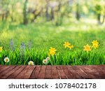 spring background with flowers... | Shutterstock . vector #1078402178