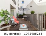 small balcony in middle of... | Shutterstock . vector #1078405265
