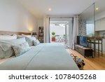 modern single bedroom house... | Shutterstock . vector #1078405268