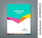 cover annual report abstract... | Shutterstock .eps vector #1078409015