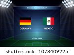 germany vs mexico. football... | Shutterstock .eps vector #1078409225