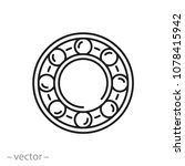 bearing line icon   vector... | Shutterstock .eps vector #1078415942