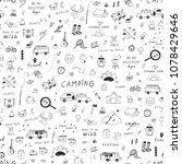 summer camping doodle... | Shutterstock .eps vector #1078429646