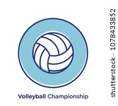 volleyball related offset style ... | Shutterstock .eps vector #1078433852