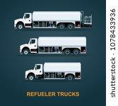 aircraft refueler trucks set.... | Shutterstock .eps vector #1078433936