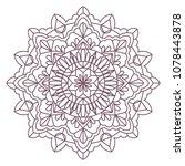 circular intricate mandala...   Shutterstock .eps vector #1078443878