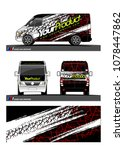 cargo van graphic vector.... | Shutterstock .eps vector #1078447862