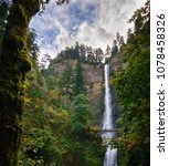 multnomah falls double waterfall | Shutterstock . vector #1078458326