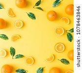 creative summer pattern made of ... | Shutterstock . vector #1078463846