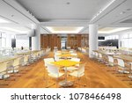 Stock photo dining center in office building 1078466498
