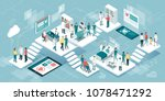isometric virtual medical... | Shutterstock .eps vector #1078471292