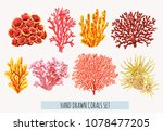 beautiful hand drawn botanical... | Shutterstock .eps vector #1078477205