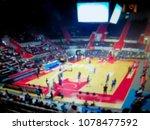 blurred background. basketball...   Shutterstock . vector #1078477592