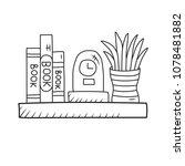 shelf interior with clock... | Shutterstock .eps vector #1078481882