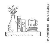 interior shelf cute interior... | Shutterstock .eps vector #1078481888