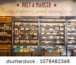 london  april  2018  pret a... | Shutterstock . vector #1078482368