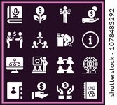 set of 16 business filled icons ... | Shutterstock .eps vector #1078483292