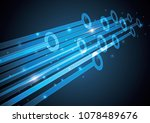 technology abstract stripe... | Shutterstock .eps vector #1078489676