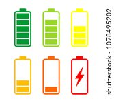 battery energy vector logo... | Shutterstock .eps vector #1078495202