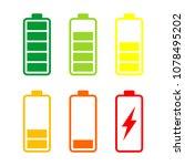 battery energy vector logo... | Shutterstock .eps vector #1078495202