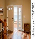 open front door leading onto... | Shutterstock . vector #1078496342