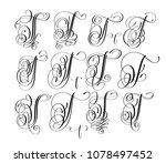 calligraphy lettering script... | Shutterstock .eps vector #1078497452