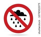 no rain sign  do not use when... | Shutterstock .eps vector #1078502075